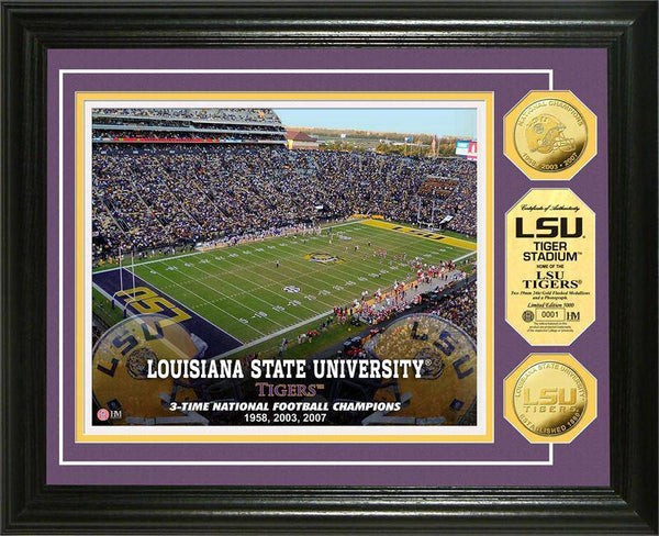 Louisiana State University LSU Tigers Stadium Gold Coin Photo Mint (HM)