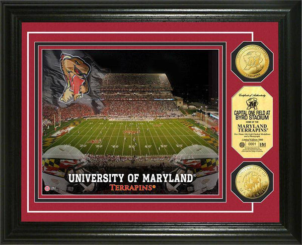 University of Maryland Terripans Terps Stadium Gold Coin Photo Mint (HM)