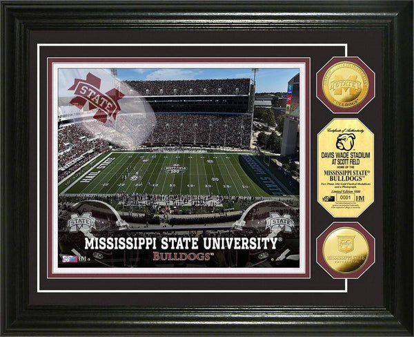 Mississippi State University Bulldogs Stadium Gold Coin Photo Mint (HM)