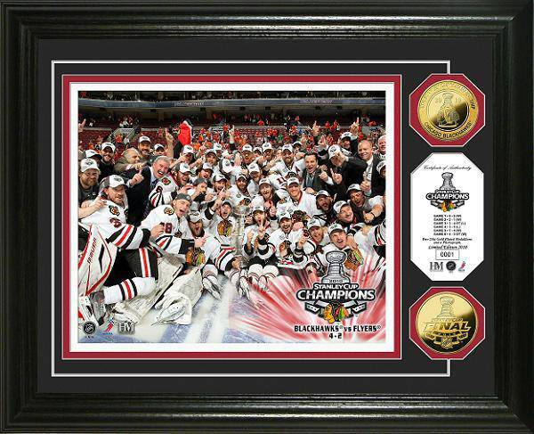 Chicago Blackhawks 2010 Stanley Cup Champions Celebration 24KT Gold Coin Photo Mint (HM)