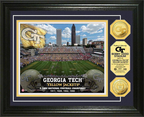 Georgia Tech Yellow Jackets Gold Coin Photo Mint (HM)