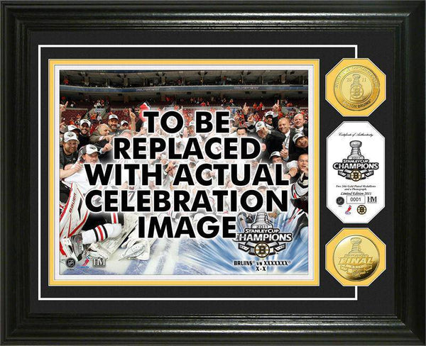 Boston Bruins 2011 Stanley Cup Champions Celebration  24KT Gold Coin Photo Mint (HM)
