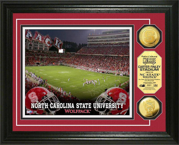 North Carolina State University Wolfpack Gold Coin Photo Mint (HM)