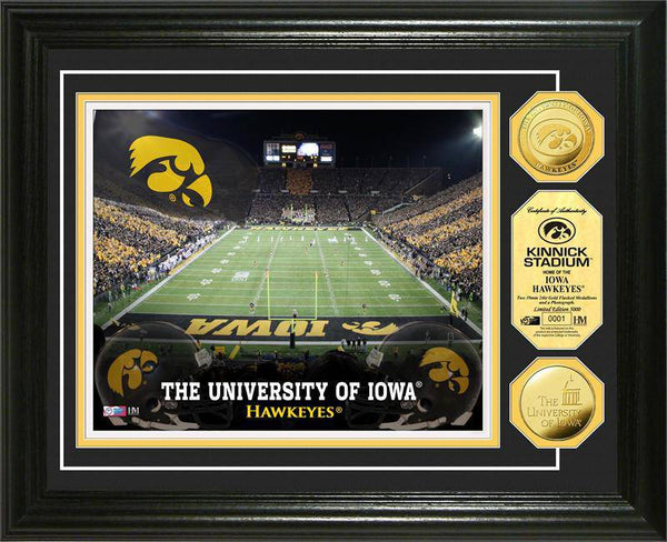 University of Iowa Hawkeyes Stadium Gold Coin Photo Mint (HM)