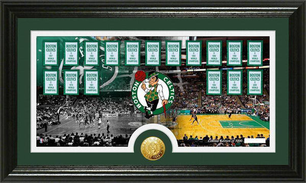 "Boston Celtics ""Tradition"" Minted Coin Pano Photo Mint (HM)"
