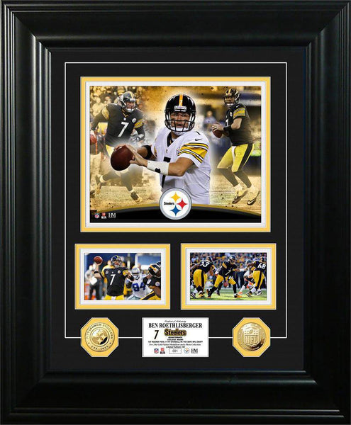 "Pittsburgh Steelers Ben Roethlisberger ""Marquee"" Gold Coin Photo Mint (HM)"