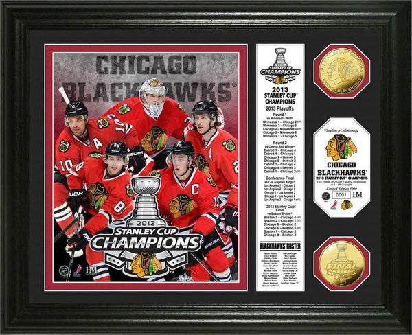 "Chicago Blackhawks 2013 Stanley Cup Champions ""Banner"" Gold Coin Photo Mint (HM)"