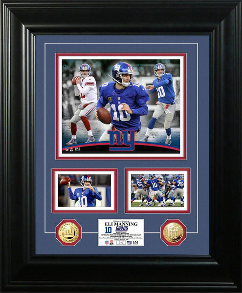 "New York Giants Eli Manning ""Marquee"" Gold Coin Photo Mint (HM)"