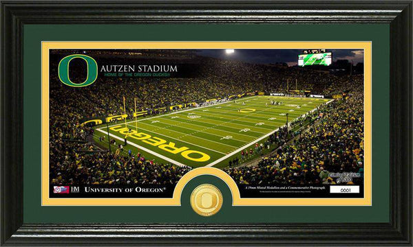 "University of Oregon Ducks ""Stadium"" Bronze Coin Panoramic Photo Mint  (HM)"