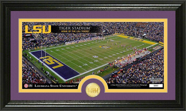 "Louisiana State University LSU Tigers ""Stadium"" Bronze Coin Panoramic Photo Mint (HM)"