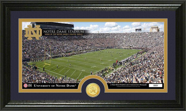 "University of Notre Dame Fighting Irish ""Stadium"" Bronze Coin Panoramic Photo Mint  (HM)"