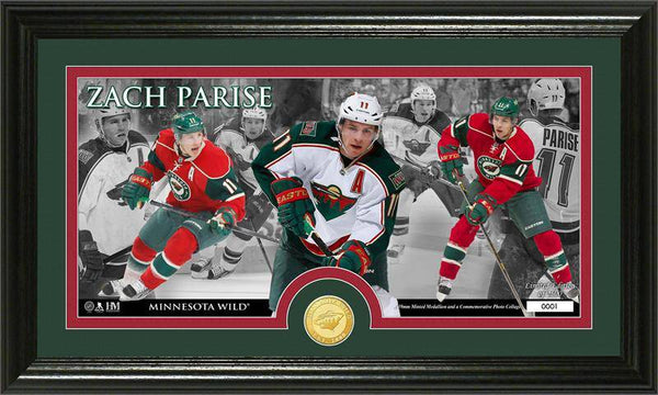Minnesota Wild Zach Parise Bronze Coin Panoramic Photo Mint (HM)