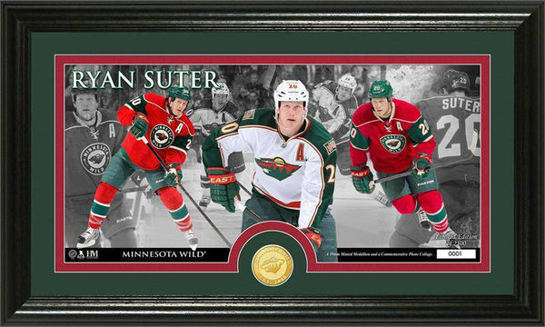 Minnesota Wild Ryan Suter Bronze Coin Panoramic Photo Mint (HM)