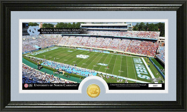 "University of North Carolina Tarheels ""Stadium"" Bronze Coin Panoramic Photo Mint  (HM)"