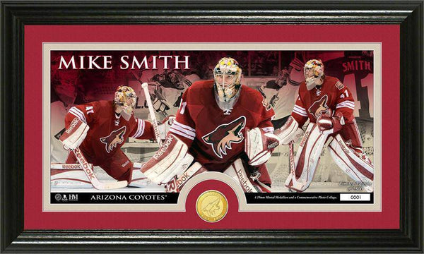 Phoenix Coyotes Mike Smith Bronze Coin Panoramic Photo Mint (HM)