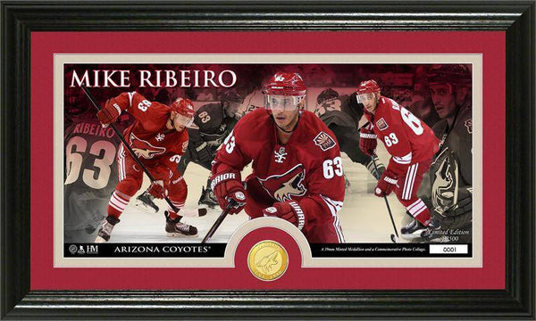Phoenix Coyotes Mike Ribeiro Bronze Coin Panoramic Photo Mint (HM)