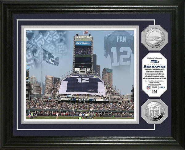 "Seattle Seahawks ""12th Man"" Silver Coin Photo Mint (HM)"