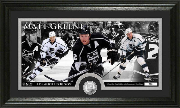 Los Angeles Kings Matt Greene Mint Coin Panoramic Photo Mint (HM)