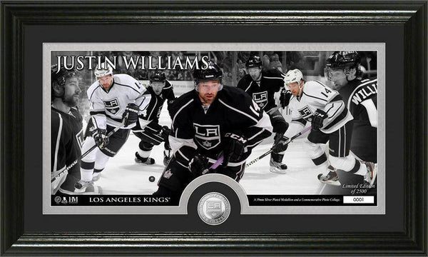 Los Angeles Kings Justin Williams Mint Coin Panoramic Photo Mint (HM)