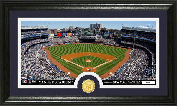 New York Yankees Minted Coin Panoramic Photo Mint  (HM)