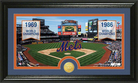 "New York Mets ""Traditions"" Bronze Coin Panoramic Photo Mint (HM)"
