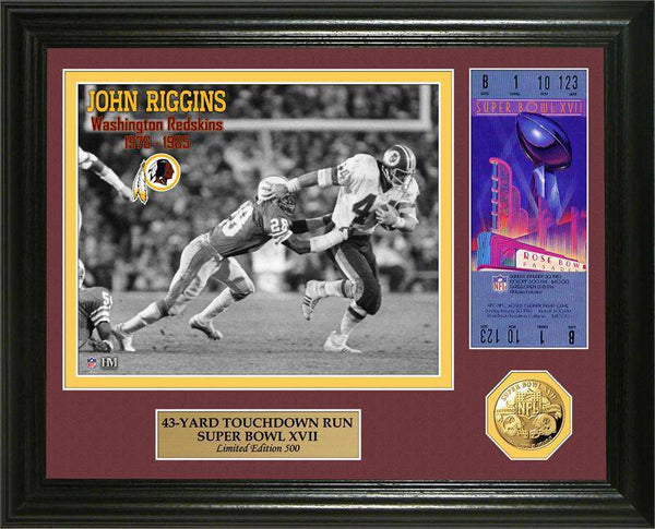 Washington Redskins John Riggins Super Bowl 17 Ticket Gold Coin Photo Mint (HM)