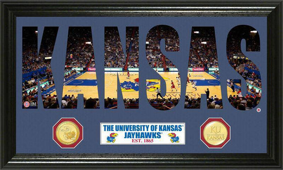 "Kansas Jayhawks University of Kansas Basketball ""Word Art"" Bronze Coin Panoramic Photo Mint (HM)"