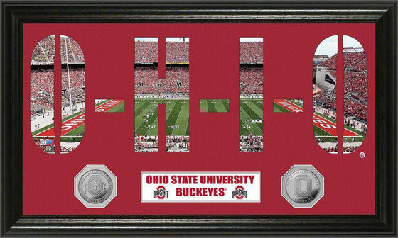 "Ohio State Buckeyes Ohio State University ""Word Art"" Panoramic Minted Coin Photo Mint (HM)"
