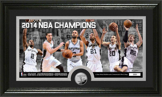 San Antonio Spurs 2014 NBA Finals Champions Panoramic Minted Coin Photo Mint (HM)