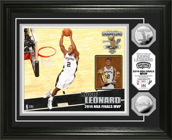 "San Antonio Spurs 2014 NBA Finals ""MVP"" Silver Coin Photo Mint (HM)"
