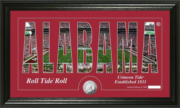 "Alabama Crimson Tide University of Alabama ""Silhouette"" Panoramic Minted Coin Photo Mint (HM)"
