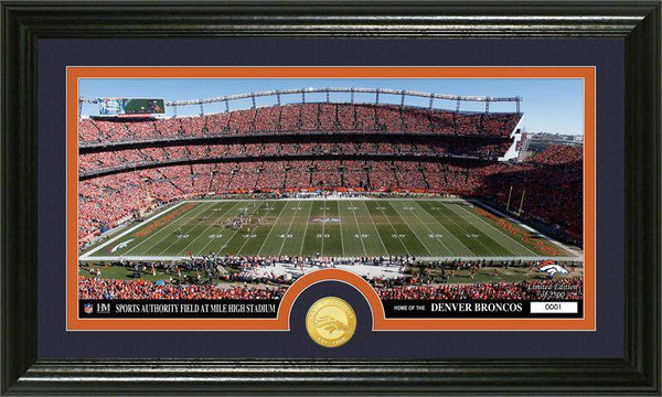 "Denver Broncos ""Stadium"" Bronze Coin Panoramic Photo Mint (HM)"