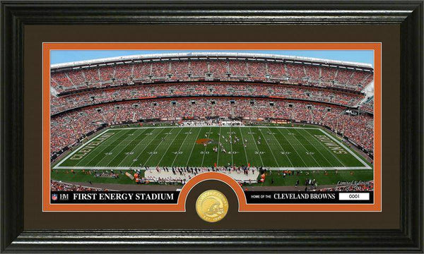"Cleveland Browns ""Stadium"" Bronze Coin Panoramic Photo Mint (HM)"