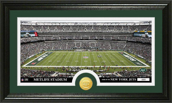 "New York Jets ""Stadium"" Bronze Coin Panoramic Photo Mint (HM)"
