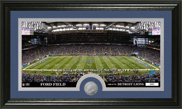 "Detroit Lions ""Stadium"" Minted Coin Panoramic Photo Mint (HM)"