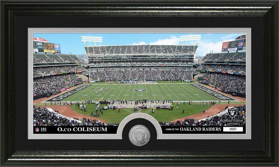 "Oakland Raiders ""Stadium"" Minted Coin Panoramic Photo Mint (HM)"