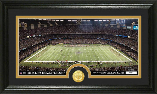 "New Orleans Saints ""Stadium"" Bronze Coin Panoramic Photo Mint (HM)"