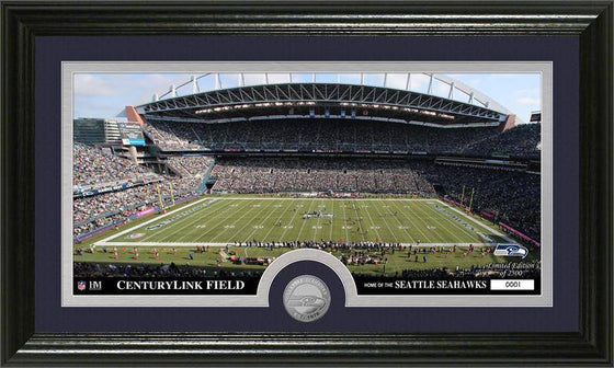 "Seattle Seahawks ""Stadium"" Minted Coin Panoramic Photo Mint (HM)"