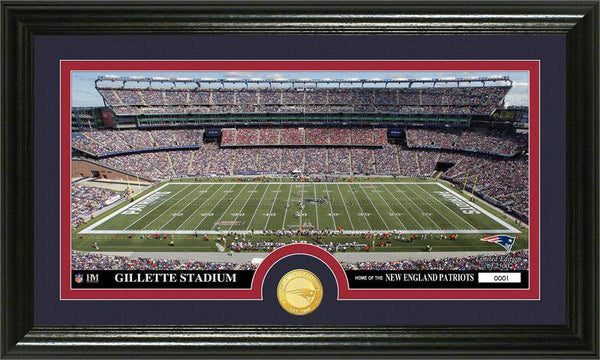 "New England Patriots ""Stadium"" Bronze Coin Panoramic Photo Mint (HM)"