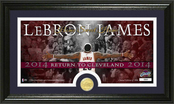 "Cleveland Cavaliers LeBron James ""Return to Cleveland""  Minted Coin Panoramic Photo Mint (HM)"
