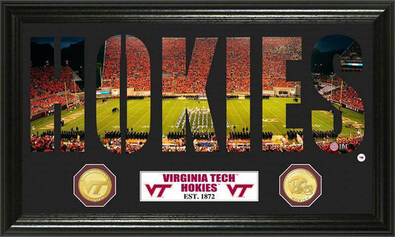 "Virginia Tech Hokies ""Word Art"" Bronze Coin Panoramic Photo Mint (HM)"