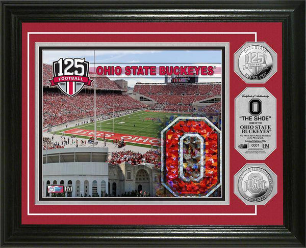 Ohio State Buckeyes The Ohio State University 125th Anniversary Commemorative Silver Coin Photo Mint (HM)