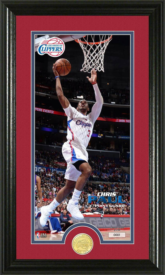 Los Angeles Clippers Chris Paul Bronze Coin Panoramic Photo Mint (HM)