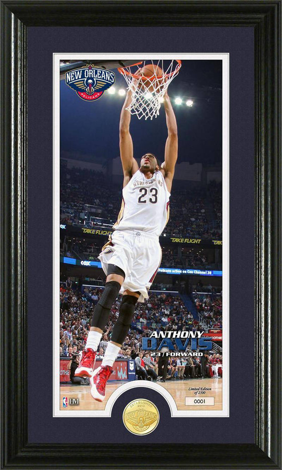New Orleans Pelicans Anthony Davis Bronze Coin Panoramic Photo Mint (HM)