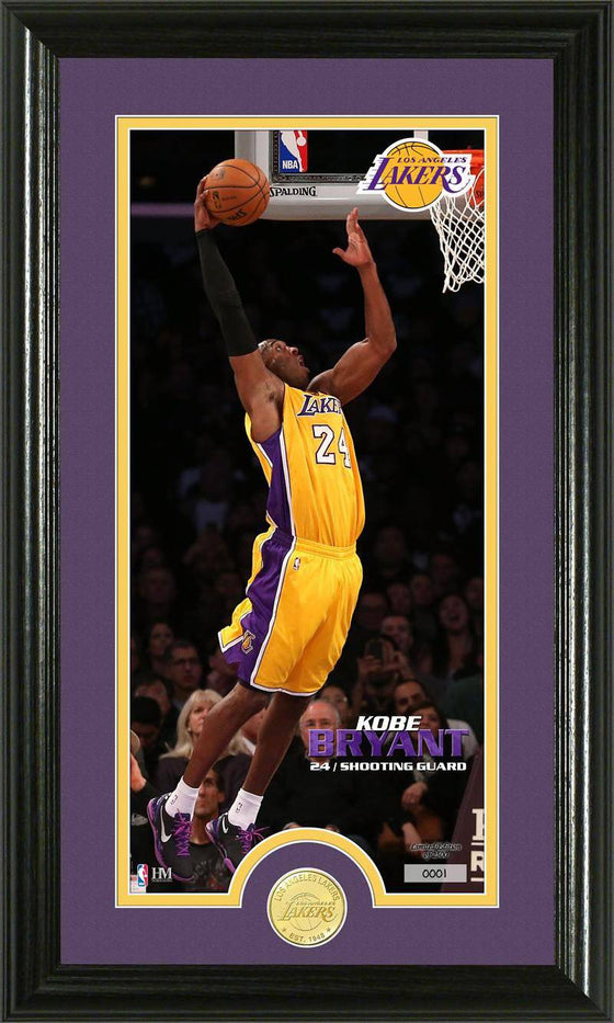 Los Angeles Lakers Kobe Bryant Bronze Coin Panoramic Photo Mint (HM)