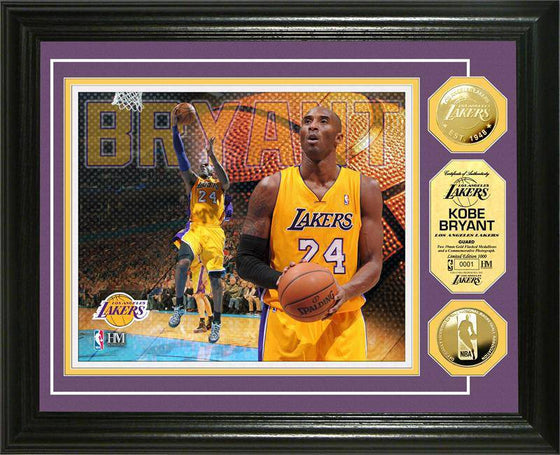 Los Angeles Lakers Kobe Bryant Gold Coin Photo Mint (HM)