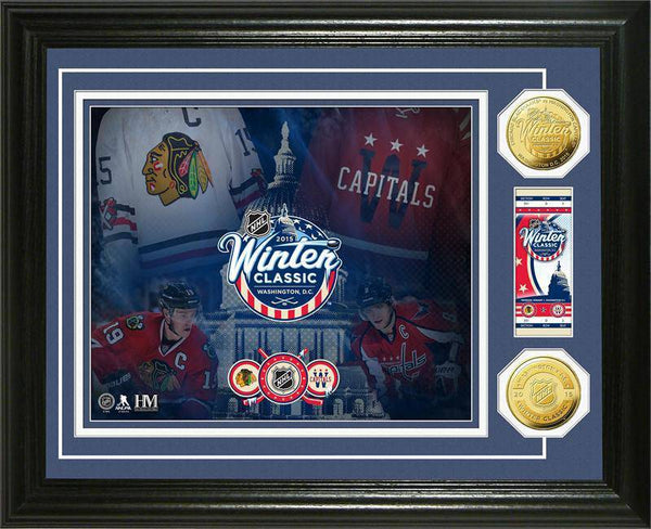 "2015 Winter Classic ""Ticket"" Gold Coin Photo Mint (HM)"