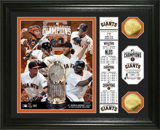 "San Francisco Giants 2014 World Series Champions ""Banner"" Gold Coin Photo Mint (HM)"