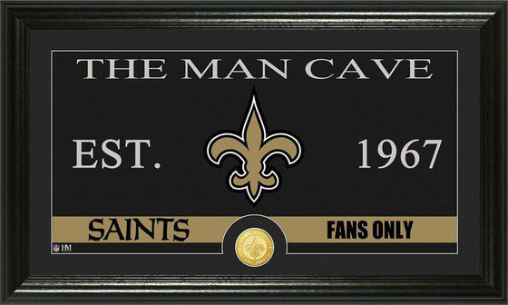 "New Orleans Saints ""The Man Cave"" Bronze Coin Panoramic Photo Mint (HM)"