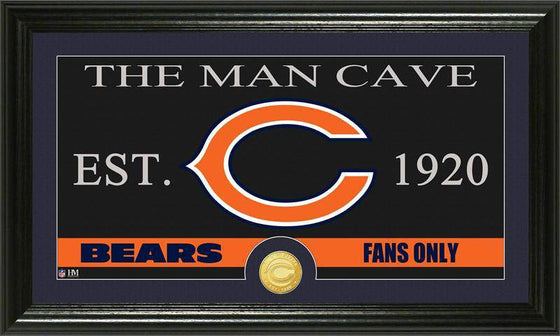 "Chicago Bears ""The Man Cave"" Bronze Coin Panoramic Photo Mint (HM)"